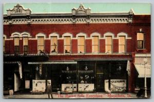 Maquoketa Iowa~The Racket Store Sells Everything~Display Windows~Owner~1908 PC