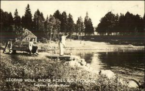 Golf Golfing - Sebasco Estates ME Shore Acres Real Photo Postcard