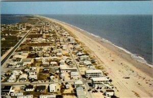 Aerial View Fenwick Island Delaware Looking North  Postcard