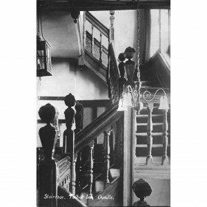 'Leayton's Oundle Series' Real Photograph Postcard 'Staircase, Talbot Inn, Oundl