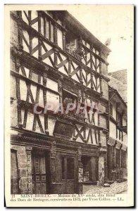 Postcard Old Saint Brieuc House called 15th Hotel des Ducs de Bretagne