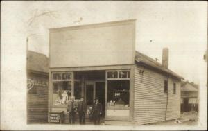 Men & Storefront HENRY SWIFT in Window - Indianapolis IN Cancel c1910 RPPC