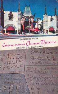 HOLLYWOOD, California, 1940-1960's; Grauman's Chinese Theatre