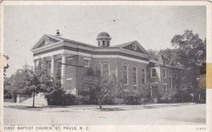 ST. PAULS , North Carolina , 1930s ; First Baptist Church