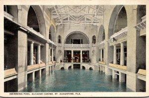 Florida St Augustine Alcazar Casino Swimming Pool Curteich