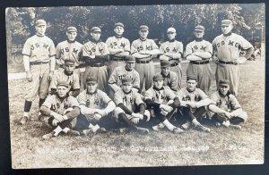Mint USA Real Picture Postcard Us Marine Corps Baseball Players Team 1915