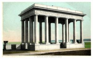 Massachuesetts  Plymouth . Portico over Plymouth Rock