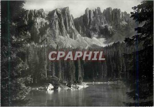 Postcard Modern Dolomiti Lago di Carezza