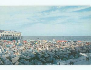 Unused Pre-1980 BEACH SCENE Ocean City New Jersey NJ d6909