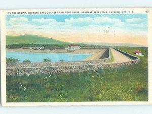 W-border TOP OF DAM Ashokan Reservoir - Shokan & Woodstock New York NY AD7110