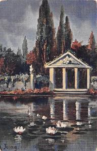 Illustrateur Signe A. Jung, Paysage, Scenario, Illustratore Firmato, Germania