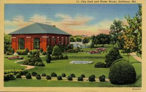 MD - Salisbury. City Park and Water Works
