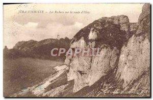 Postcard Old Jura Tourist Les Rochers on Route d & # 39Illay