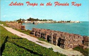 Postcard Lobster Traps In Florida Keys Conch Key Ocean Sea View Scenic 1553