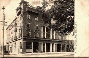 Postcard MS Jackson Norvelle Hotel Rare View Buggy Rotograph ~1905 M46
