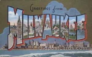 Milwaukee, USA Large Letter Towns Postcard Postcards  Milwaukee, USA
