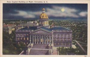 State Capitol Building At Night Columbia South Carolina
