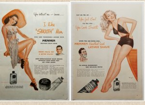 Bathing Beauties Mennen Shave 2 LIFE Ads 1946