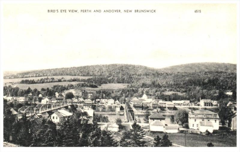 2850  Aerial View of  View Perth and Andover   New Brunswick
