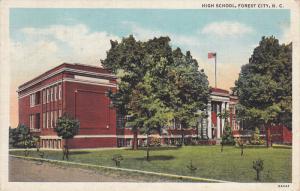 High School , FOREST CITY , North Carolina , PU-1942