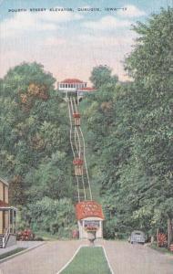 Iowa Dubuque Fourth Stret Elevator 1956