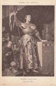 Joan Jeanne Of Arc D'Arc Musee Du Louvre Antique French Postcard