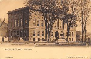 Waterville Maine~City Hall~1906 TUCK Postcard