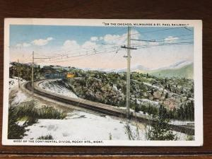 On The Chicago, Milwaukee & St. Paul Railway, West of Continental Divide, MT D10