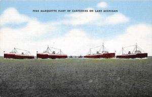 6543 Pere Marquette Fleet of Carferries on Lake Michigan