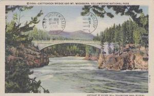 Wyoming Yellowstone National Park Chittenden Bridge And Mt Washburn