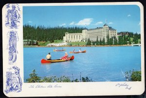 Alberta Chateau Lake Louise within Banff in the Canadian Rockies 1953 Cont'l