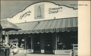 REHOBOTH BEACH DE Edwards Treasure Chest Old Postcard