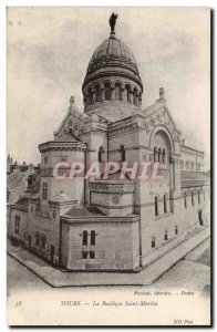Tours Postcard Old Basilica of St. Martin