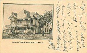 1908 Sabetha Hospital Kansas undivided Postcard 20-3904