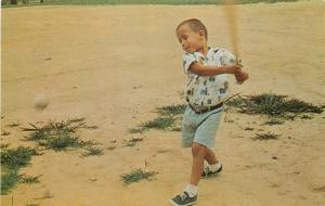 New Lexington OH~Little Leaguer Swings A Mean Bat: Watch Out Mantle & Maris