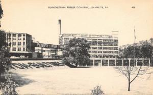 Jeannette PA~Pennsylvania Rubber Company~Factory~Loading Dock~1930s B&W Litho PC