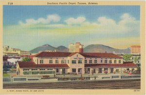 TUCSON - SOUTHERN PACIFIC RAILROAD DEPOT - 1940s