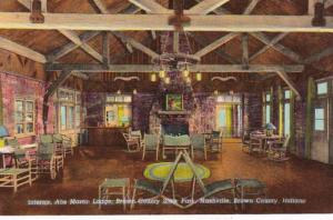 Indiana Nashville Brown County State Park Abe Martin LOdge Interior Curteich