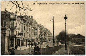 CPA BELFORT L'Avenue de la Gare vue du Pont-Neuf (722431)