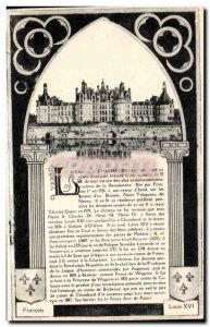 Old Postcard Chateau Chambord