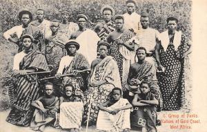 Ghana Gold Coast Group of Fantis natives Sekondi postcard