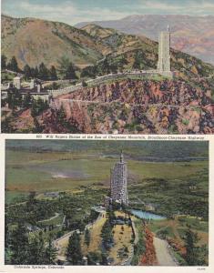 (2 cards) Will Rogers Shrine on Cheyenne Mountain Colorado Springs CO Colorado