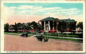 Columbia, South Carolina Postcard COLUMBIA HOSPITAL Building View 1912 Cancel