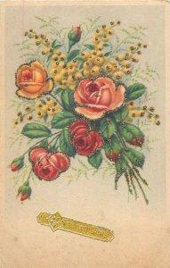 Postcard Greetings Flowers bouquet