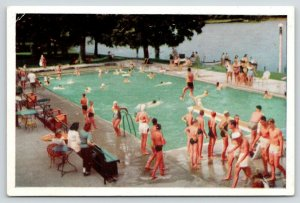 Green Lake Wisconsin~Northern Baptist Assembly Pool~Youth Groups Swimming~1950