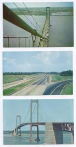 3 Delaware Memorial Bridge New Jersey Turnpike Postcards