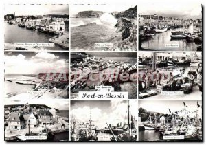 Modern Postcard Port En Bessin shouts fish