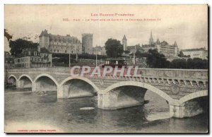 Old Postcard Pau The bridge over the Gave and the channel & # 39Henri IV