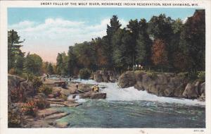 Near SHAWANO, Wisconsin, 1900-1910's; Smoky Falls of the Wolf River, Menomine...