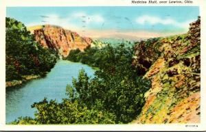 Oklahoma Lawton Medicine Bluff 1944 Curteich
